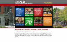 Lancaster Community Concert Association website done in Joomla